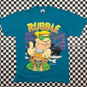 VTG 1991 Flintstones Rubble Without a Cause Tee